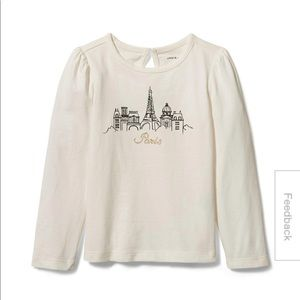 Janie and jack little girl Paris tee shirt size 5